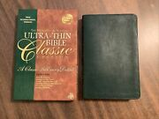 Niv 1984 Ultrathin Reference Bible Classic - Hunter Green Bonded Leather -oop 84