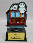 Vintage Aviva Snoopy Statue • Love From San Francisco • Cable Car • Peanuts Gang