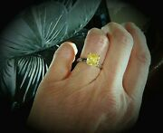 2 Ct Canary Yellow Russian Brilliants Diamond Engagement Ring In Platinum 5.25