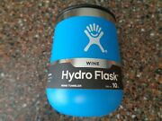 Hydro Flask 10 Oz Wine Tumbler Pacific Blue Magslider Lid Brand New