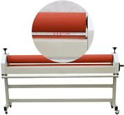 63 1600mm Stand Large Manual Cold Roll Laminating Machine Laminator Wood Case