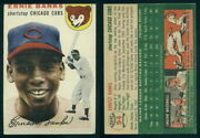 59761 1954 Topps 94 Ernie Banks Rookie Cubs-vg+ No Creases