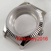 40mm Accessories Parts Sapphire Glass Coin Bezel Watch Case Fit Nh35 Nh36 Moveme