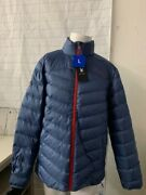 Spyder Grand Down Puffer Jacket Menand039s Blue Large