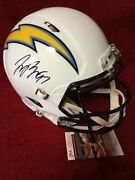 Joey Bosa Autographed Los Angeles Chargers Full-size Authentic Speed Helmet, Jsa