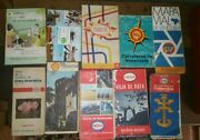 Lot Of 8 Vintage Oil Company Road Maps Shell Esso Very Rare Southamerica