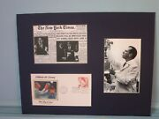 Jonas Salk Defeats Polio And First Day Cover Of The Stamp Honoring His Achievement