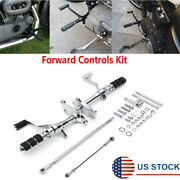 Motorcycle Billet Forward Controls Kit For Sportster Xl883 Xl1200 1991-2003 Usa