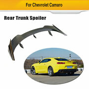 Rear Trunk Spoiler Sport Wing Carbon Fit For Chevrolet Camaro Coupe 2016-2019