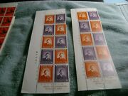 South Korea--1980--president Park-lot Of Two--2--strips Of 10 Stamps-mnh-.