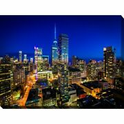 Twilight In Downtown Toronto, Ontario Giclee Print Canvas Extra Large