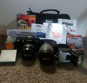Nikon N80 F80 35mm Camera With Tons Of Accessories, Extra Batteries, Travel Bag