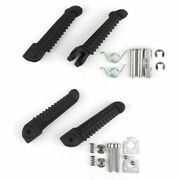 For Yamaha R1 98-14 R6 99-12 R6s Front And Rear Foot Pegs Footrest Black Lh+rh