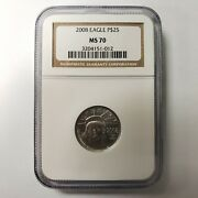 1/4oz United States Of America Us Mint 9995 Platinum Eagle 25 Coin Ms70 Ngc