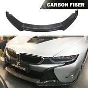 Front Bumper Lip Chin Spoiler Fit For Bmw I8 I8 Coupe 2014-2018 Dry Carbon Fiber