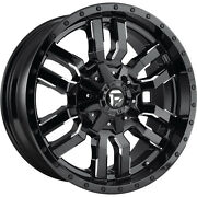 4- 20x9 Black Milled Fuel Sledge D595 6x135 And 6x5.5 +1 Wheels 275/60/20 Tires