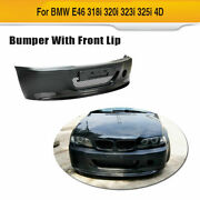 Front Bumper Cover W/carbon Front Lip Fit For Bmw E46 320i 325i 330i 1998-2004