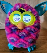 2012 Hasbro Furby Boom Pink, Teal, Yellow, White And Purple Works