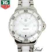 Tag Heuer Formula1 Quartz Wrist Watch White Silver Used From Japan F/s