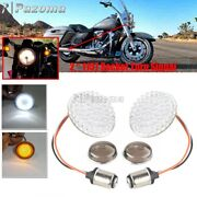 Motorcycle 1157 Insert Kit With Smoke Len For Harley Front Turn Signals Blinkers