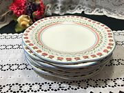6 Mikasa Country Charm Country Image - Apple Chop Plates / Platters 12 1/2