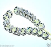 Pangaeawalker Aaa Quality Silver Clear Rondelle Spacer Beads Of 6 8 10 Mm