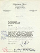 Igor Stravinsky - Autograph Note Double Signed Circa 1965 With Co-signers