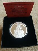 2020 1oz Uncle Fear Proof Silver Shield Minimintage I Want Your Freedom