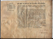 King Charles X France - Military Appointment Signed 02/10/1792