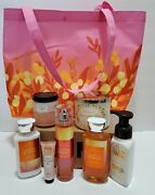 9 Pcs Set Bath And Body Works 2021 Mother's Day Vip Bag + Bodycare Over 100 Value