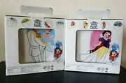 Disney Ink And Paint Salad Plate Complete Set Of 8 Cinderella Snow White Peter Pan