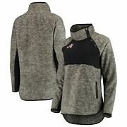 Alabama Crimson Tide Womenand039s Side Note Quilted Panel Snap-up Pullover Sweatshirt