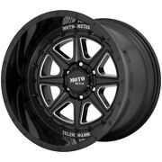 4-moto Metal Mo801 Phantom 20x12 5x5 -44mm Black/milled Wheels Rims 20 Inch