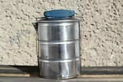 Vintage Lunch Box Bucket 3 In 1 Food Carrier Lunch Pail Camping Set Picnic Tools