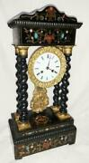Antique French Columns Mantel Clock Japy Freres Portico Clock With Pendulum 1820