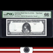 1929 10 American Bank Note Test Note Pmg 66 Epq 575-004