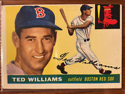 1955 Topps Ted Williams 2 Boston Red Sox Hall Of Fame 2x Triple Crown 2x Al Mvp