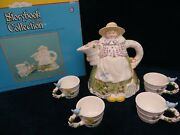 Dept 56 Storybook Village Collection Mary Mary Quite Contrary Tea Set 13346 Nib