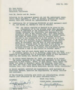 Martin And Lewis - Contract Signed 07/13/1950 With Co-signers