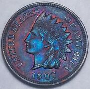 1907 Indian Head Penny Cent Uncirculated 800
