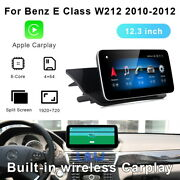 12.3 Inch For Mercedes Benz E Class 2010-2012 Android Auto Car Player Gps Radio