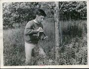 1967 Press Photo Don Fritz, Tree Increment Borer To Determine Age