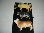 3 Vintage Cow Figurines Nylint Inarco