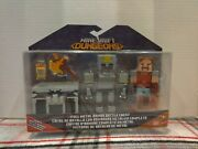 New Minecraft Dungeons Action Figure Set Hex Metal Armor Battle Chest