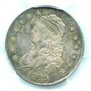 1825/4/2 Browning 3 Capped Bust Quarter Pcgs Vf35