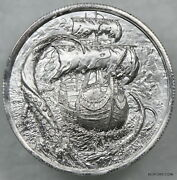 The Kraken Ultra High Relief 2 Oz .999 Silver Privateer Series In Airtite