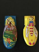 Lot Of 2 Vintage Tin Toy Clickers
