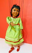 Rare / Vintage Hazelle's Airplane Control Indian Girl Marionette