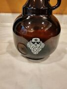 Growler Craft Beer Bottle Porcelain Lid Amber Glass 200 Cl Collectible
