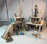 Wdw Cinderella's Castle Monorail Park Play Set And Accessories Disney Never Used